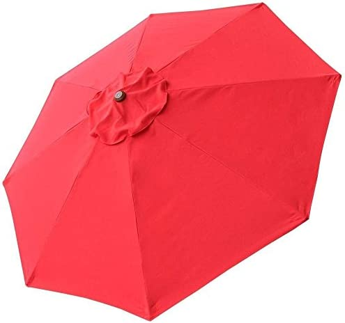 CHIMAERA Chi Mercantile 8' 8-Rib Patio Umbrella Replacement Canopy Outdoor Cover Top Red