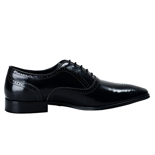 Versace-Collection-Mens-Black-Leather-Oxfords-Shoes