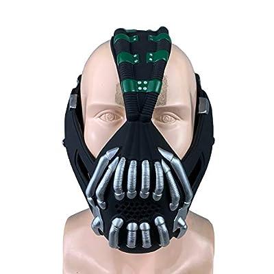 Jacos Bane Mask Men Batman Mask Cosplay Half Mouth Head Halloween Costume Props: Toys & Games