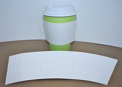 BriteVision White Hot Cup Coffee Sleeve, 1200 Ct., Fits 12 Oz.-20 Oz. Cups