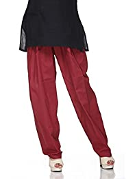 Ladyline Cotton Plain Indian Salwar Pants with Drawstring in Several Colors Yoga