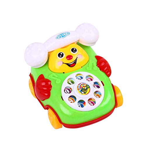 lightclub Baby Toy Cartoon Smile Pull Wire Phone Educational Developmental Toy Game for Kids Children Random Color