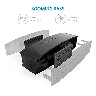 Anker Premium Stereo Bluetooth 4.0 Speaker (A3143), 20W Output from Dual 10W Drivers, with Two Passive Subwoofers, Portable Wireless Speaker for iPhone, iPad, Nexus, and More