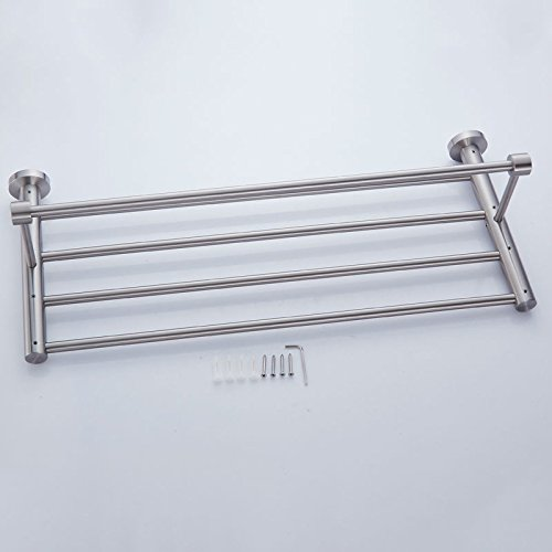 New Arrival Luxury Bathroom Accessories Stainless Steel Bath Towel Shelves Towel Rack Towel Bar Bath Hardware by Shelves store (Image #5)