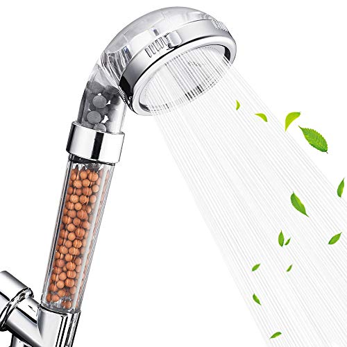 Nosame Shower Head, Filter Filtration High Pressure Water Saving 3 Mode Function Spray Handheld Showerheads for Dry Skin…