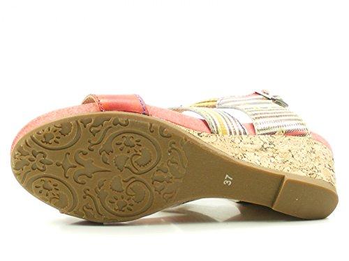 Laura Vita SL140356-27 Benoit 27 Sandalias Fashion de Cuero Mujer Rot