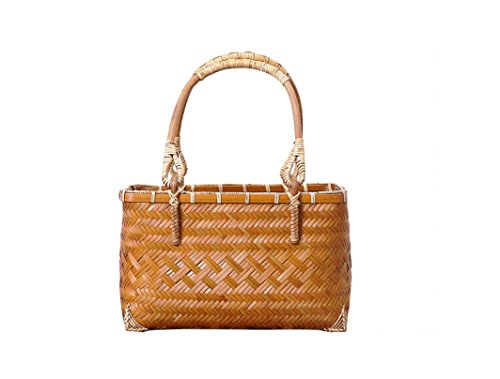 Handtasche gewebte Tasche Hochwertige Bambus Griff Paket gesponnene Retro Mountain Bambus
