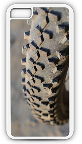 iPhone 8 Case Mountain Bike Tire Treat Patter Dirt and Rocks Customizable by TYD Designs in White Plastic