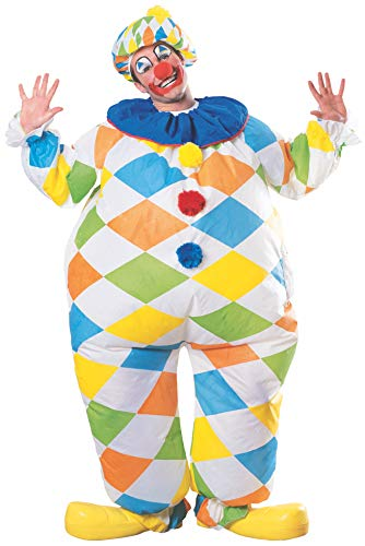 Rubie's Unisex-Adult's Inflatable Clown Costume, As Shown, One Size (Inflatable Clown)
