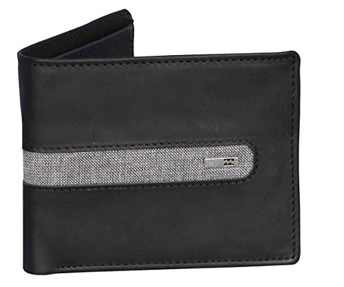 Billabong Leather Wallet With RFID protection ~ D Bah black