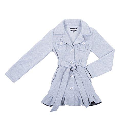 [398084-MediumHeather-5/6] Girl's Fleece Jacket: Belted Mid-Length Coat