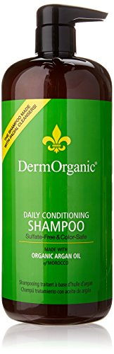 DermOrganic Sulfate-Free Daily Conditioning Shampoo, 33.8 fl. oz. / Liter Derm Organic with Argan Oil