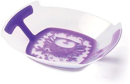 plastorex Assiette Micro-Ondable en Polypropyl/ène Transparent D/écor Chouette//Bordure Rouge Grenadine Opaque