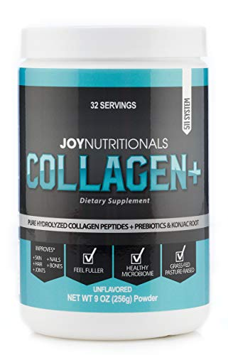 Collagen+ Weight Loss Focused, All Natural Collagen Peptides Powder & Prebiotic Dietary Fiber Supplement - Grass-Fed, Non-GMO, Hydrolyzed and Gluten-Free, Collagen with Benefits!