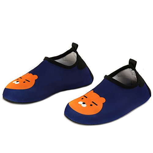 Yidomto Kids Water Shoes, Quick Dry Barefoot Socks for Toddler Boys & Girls on Beach Swim Pool(Blue Bear-22/23) - 155 Pool