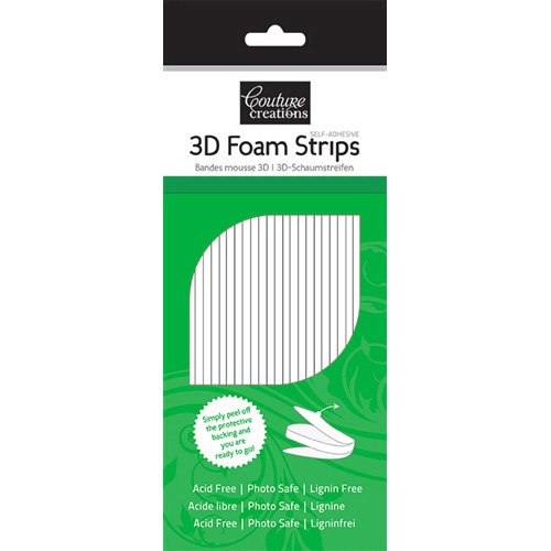 Couture Creations 3D Foam Strips-White ()