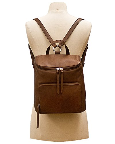 ili RFID Lining Handbag Leather Backpack 6502 with Saddle Antique AvqCwP