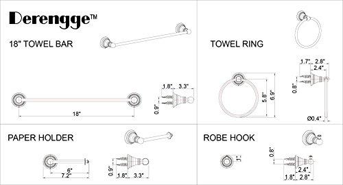 Review Derengge F-080-BN 4-piece Bathroom