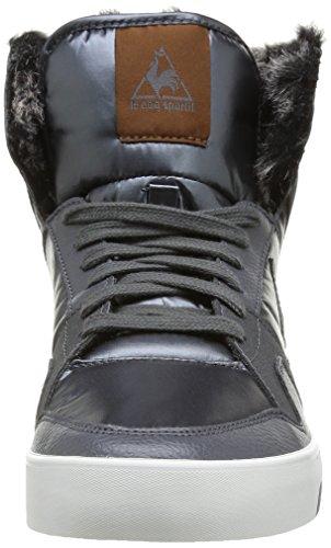 Le Coq Sportif Renaissance Mid W Wet Look Nylon - Zapatillas de Deporte de canvas mujer gris - Gris (Charcoal)