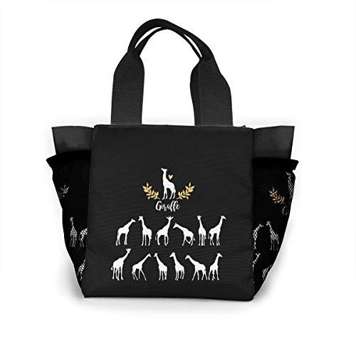 (Ailigrfel Lunch Bag Tote Bag Lunch Organizer Lunch Holder Lunch Container -Cartoon Giraffes)