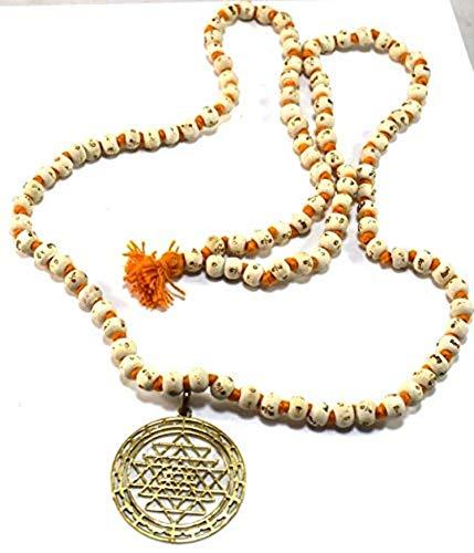 Nexxa Sri Yantra Pendant & Tulsi Rosery Mala Talisman ...