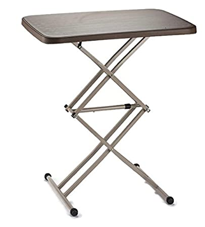 Elegant Radiant Height Adjustable Folding Iron/ Garden Table   RT24Table