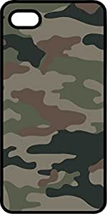 Camoflauge #6 Black Rubber Case for Apple iPhone 5 or iPhone 5s