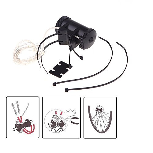 Docooler® 18 LED Colorful Bicycle Bike Cycling Wheel Spoke Flash Light 2m String Wire Lamp