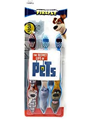 The Secret Life of Pets 3-Pack Toothbrushes (Max,Snowball, Duke)