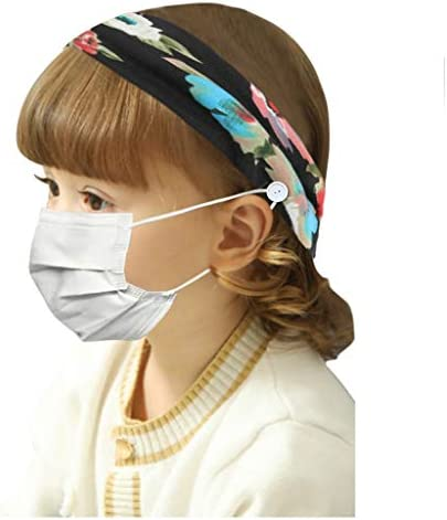 Akabsh Head Cover Button Headband Yashmak Holder Wearing a Yashmak- Protect Your EarsHeadban Adult Children`s Parent-Child Printed Headband Hair Band / Akabsh Head Cover Button Headband Yashmak Holder Wearing a Yashmak- Protect You...