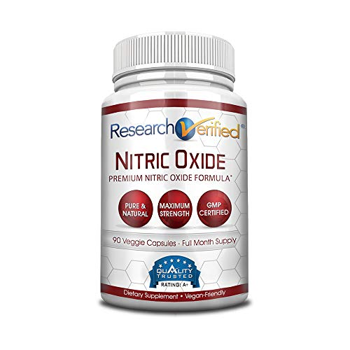 Research Verified Nitric Oxide - With L-Arginine and L-Citrulline - Premium Muscle Building Nitric Oxide Booster - 1 Month Supply … -  RVNO2-1
