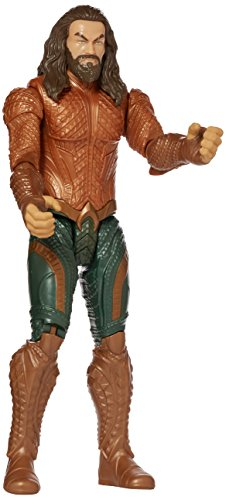 - Mattel DC Justice League True-Moves Series Aquaman Figure, 12