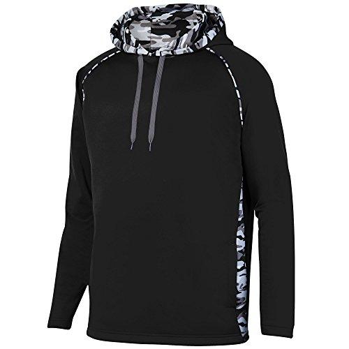 Augusta Sportswear Men's Mod Camo Hoodie, Black/Black Mod, X-Large
