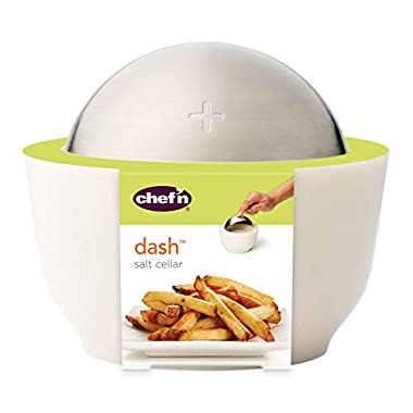 Chef'n Dash Salt Cellar with Flip Top Cover, Coconut