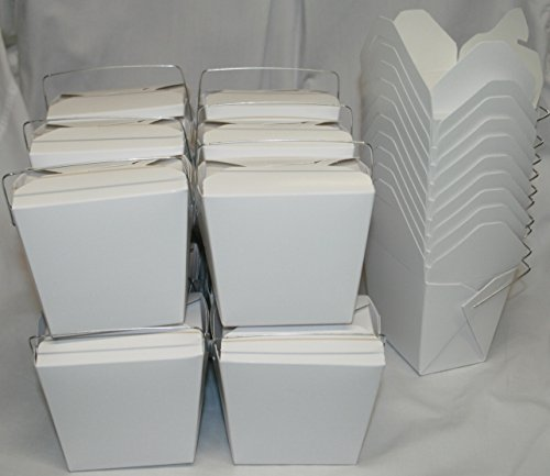 t To go Food Boxes: 16 oz. (1 Pint) Lot Of 50 - White - food container # 450019 ()