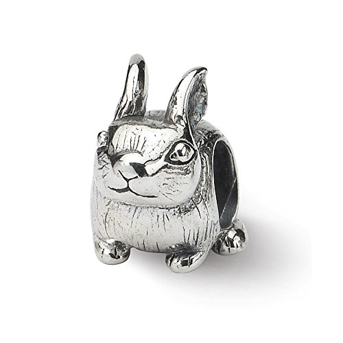 925 Sterling Silver Charm For Bracelet Bunny Bead Holiday Celebration Animal Fine Jewelry Gifts For Women For Her