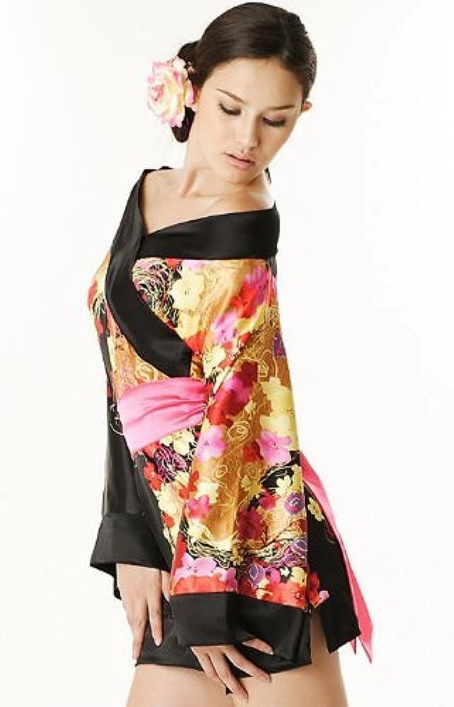 Para Mujer Sexy Geisha japonés Mulan de raso e instrucciones para ...