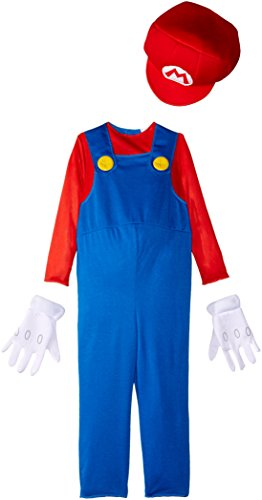 [Disguise Nintendo Super Mario Brothers Mario Boys Toddler Costume, Small/2T] (Small Toddler Toddler Costumes)