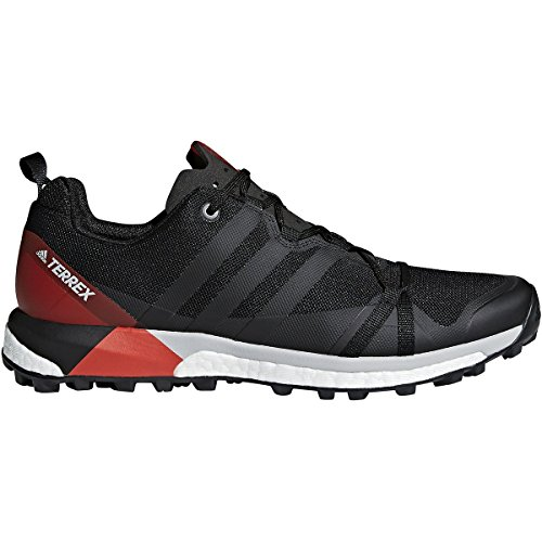 Black Shoes Adidas Bike (adidas outdoor Mens Terrex Agravic Shoe (10.5 - Black/Carbon/Hi-Res Red))