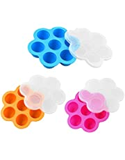Mini Silicone Egg Bites Mold, Reusable Baby Food Storage Containers And Baby Food Freezer Tray, Egg Bites Mold Instant Pot Accessories, Instant Pot Accessories For Pressure Cooker, For Instant Pot 3QT And Above (3 Pack)