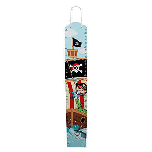 Fantasy Fields - Pirate Island Thematic Kids Wooden Growth Chart   Imagination Inspiring Hand Painted Details   Non-Toxic, Lead Free Water-based Paint