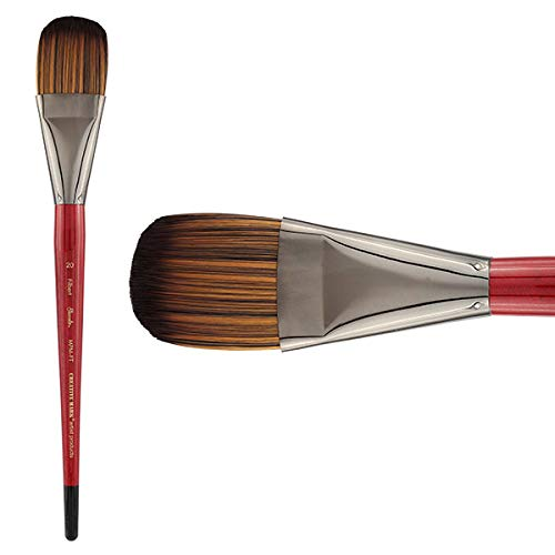 Creative Mark Staccato Artist Paintbrushes Synthetic Long Handled Brushes for Acrylics Handmade and Full Bodied with Springy Response - [Filbert - Size 20]