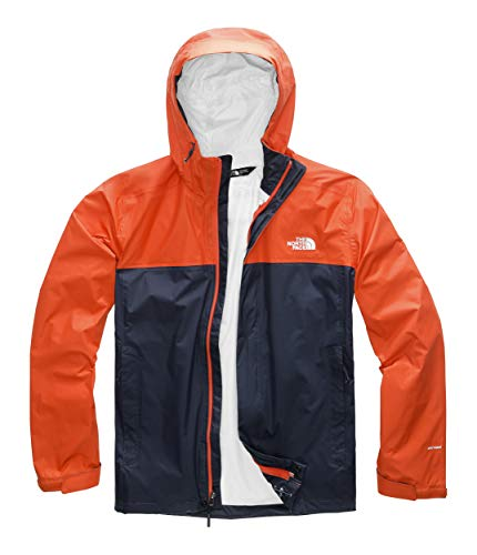 The North Face Men's Venture 2 Jacket, Urban Navy/Zion Orange, Size XL