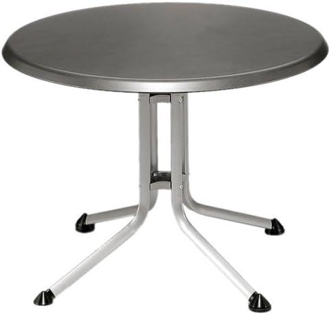 Kettler - Mesa de jardín redonda de aluminio y resina Kettalux ...