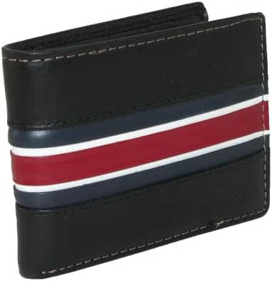 Tommy Hilfiger Men's Leather Murrey Passcase Billfold Wallet