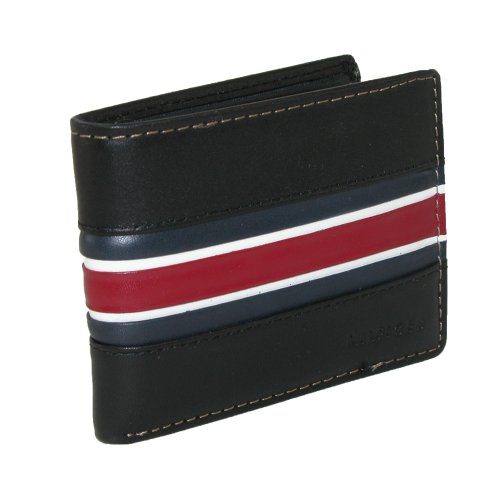 Tommy Hilfiger Murrey Double Billfold Wallet (Black)