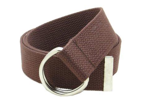 Canvas Web Belt Double D-Ring Buckle 1.5