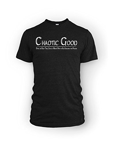 Chaotic Good Kill Everyone Alignment RPG fan Mens T-Shirt