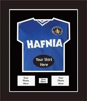 DIY marco expositor de Everton firmado fútbol camisas | con 2 apertura para fotos y 1 apertura para mensaje | Everton: Amazon.es: Hogar