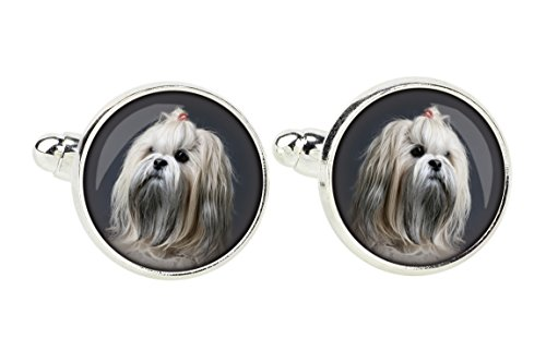 Lhasa Apso Dog Photo (Lhasa Apso, Cufflinks for dog lovers, Photo-Jewelry, Jewelry for Men, Handmade)